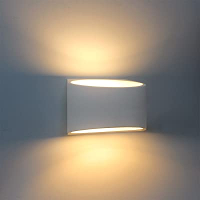 Modern Wall Sconce Lighting Fixture Lamps 7W Warm White 2700K Up and Down Indoor Plaster Wall
