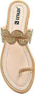 Divain Womens Flat Sandal Fashion Slipper (Art_204)