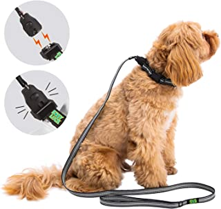 Ribivaul Dog Training Collar Remote /& Safe Lock Outdoor Waterproof 3 Modes Beep Vibration /& Static Shock with LED Light,Rechargeable E-Collar for Small Medium Large Dogs 1600Ft Range
