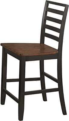 Coaster Home Furnishings Sanford Ladder Back Cinnamon and Espresso (Set of 2), Counter Height Stool