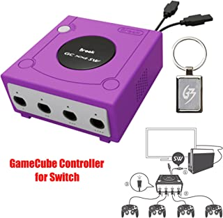 Mcbazel Brook Super SW Converter for GameCube GC to Nintendo Switch Controller Adapter with Gam3Gear Keychain