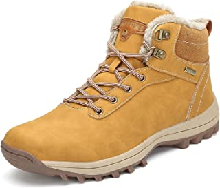 Mishansha Bottes Hiver Hommes Femmes Chaudes Imperméable Boots Neige, GR.36-48 EU