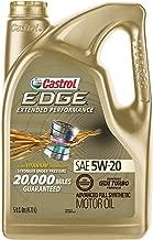 Castrol 03086 EDGE Extended Performance 5W-20 Advanced Full Synthetic Motor Oil, 5 Quart