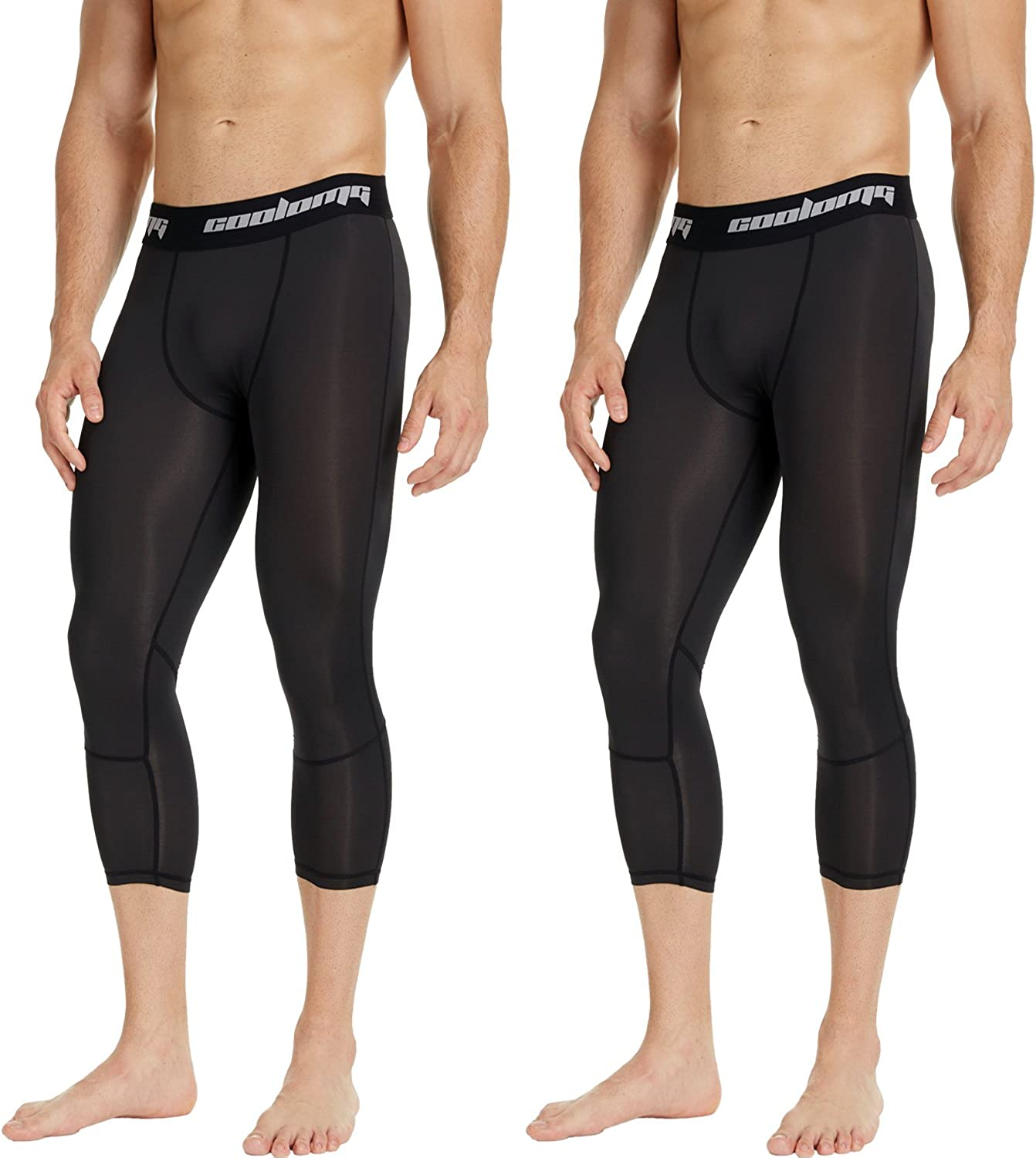 COOLOMG 2 Pack 3 4 trend rank Compression 20+ Pants Colors Pa Product Tights Sports