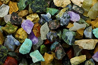 Hypnotic Gems Materials: 2 lbs (BEST VARIETY) of a 26 Stone Extraordinary Mix From Madagascar - 26 Different Stone Types in EVERY bag! Raw Natural Rough Rock Crystals for Tumbling, Cabbing, and More!