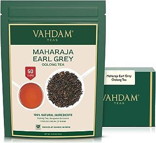 VAHDAM, Maharaja Earl Grey Oolong Tee loses Blatt 50 Tassen   100% reine Oolong-Teeblätter   LEISTUNGSFÄHIGE ANTI-OXIDANTEN   Loose Leaf Earl Grey Tea mit natürlichem Bergamottenöl   100gr