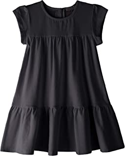 e725e6d592f63 Youwon Toddler Girls Dress Short Sleeve Solid Color Tunic A-Line Tiered  Swing Dress 2