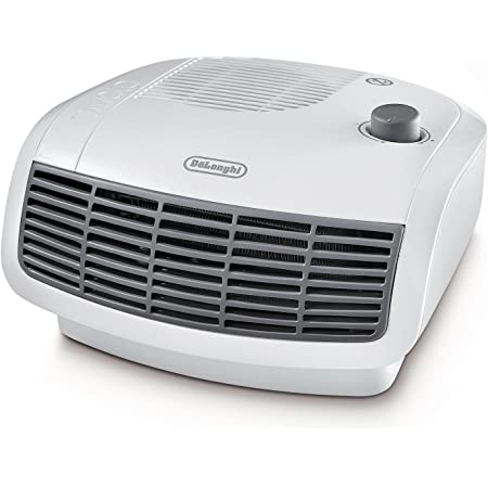 De'Longhi HTF3020 Calefactor termoventilador, habitaciones de hasta 60 m³, termostato regulable y de seguridad, 2000 W, Plastik, Blanco