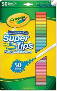 Crayola 50ct Washable Super Tips Markers 50 Color Variety