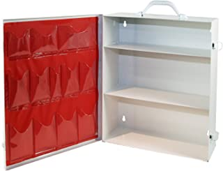 Medique Products First Aid Cabinet with Pockets, Medical Storage with 3 Shelves - 712MTM