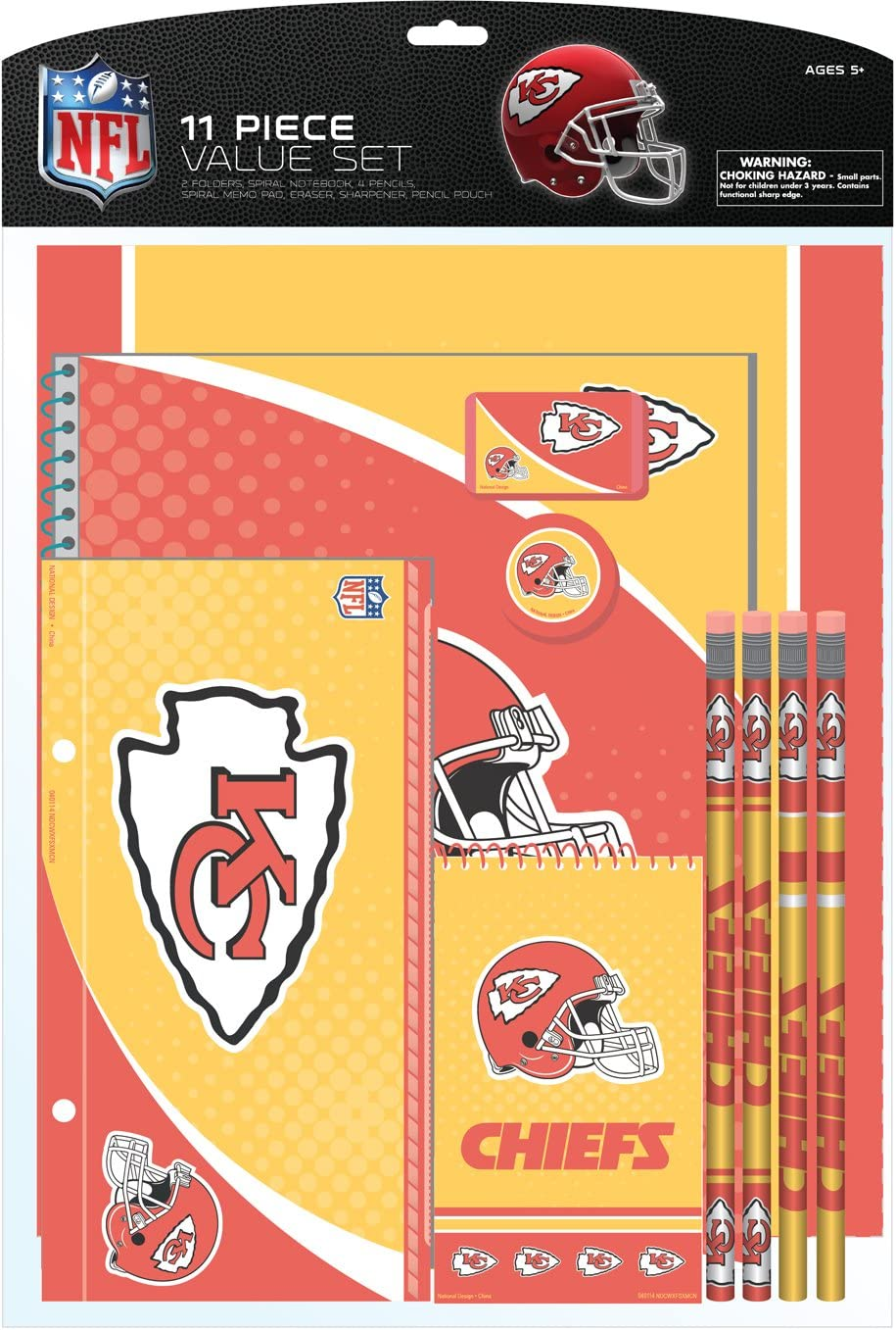 National Design NFL 11-Piece Stationery Set (11056-QUN) : Office Products