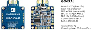 Matek Systems HUBOSD8-SE PDB OSD Power Distribution Board Dual BEC 3S - 6S Supported 184A Current Sensor For FPV RC Drone and Crazepony Strap