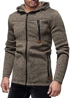 Snowmolle Slim Fit Lightweight Zip Up Hoodie Men Hooded Sweatshirt Warm Coat Jacket Long Sleeve