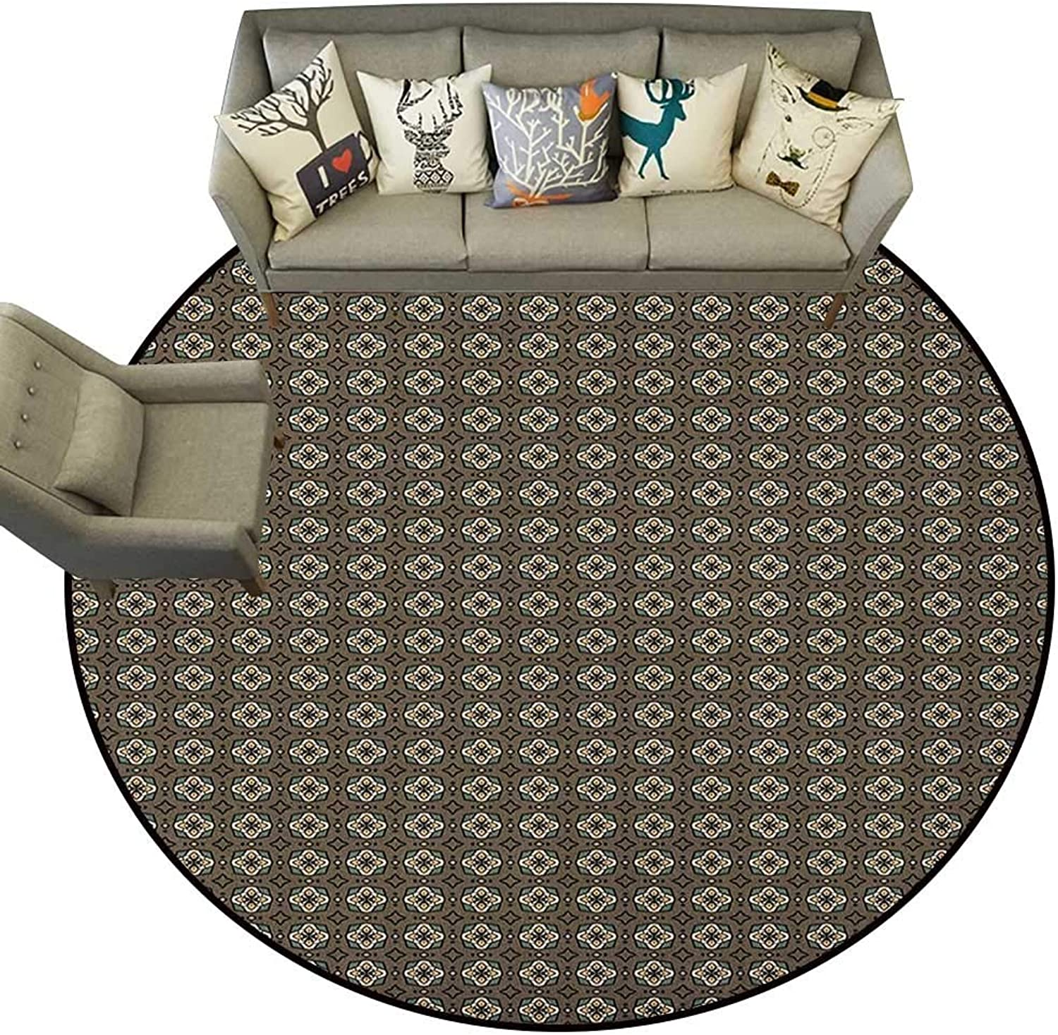Geometric,Personalized Floor mats Stars and Squares Pattern Abstract Shapes Illustration Polka Dotted Background D48 Floor Mat Entrance Doormat