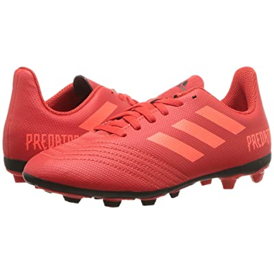 adidas Kids Predator 19.4 FxG Soccer (Little Kid/Big Kid) (Active Red/Solar Red/Black) Kids Shoes