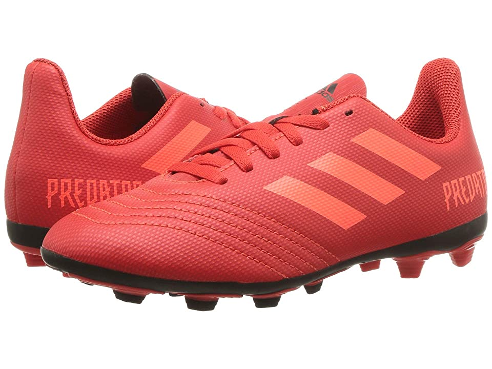 adidas Kids Predator 19.4 FxG Soccer (Little Kid/Big Kid) (Active Red/Solar Red/Black) Kids Shoes