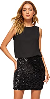 Women's Sexy Layered Look Fashion Club Wear Party Sparkle...