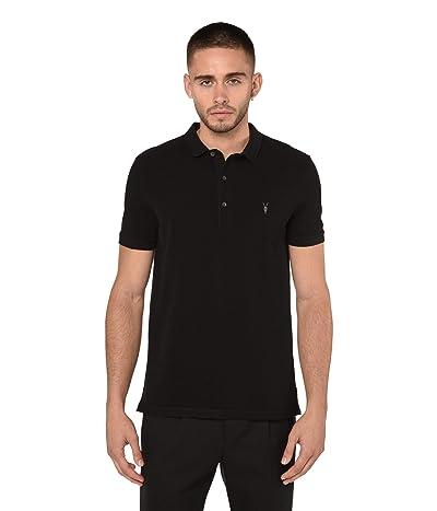AllSaints Reform Short Sleeve Polo (Black) Men