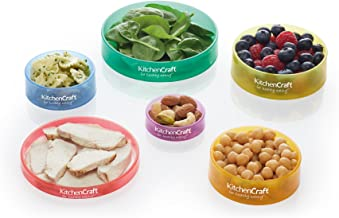 KitchenCraft Healthy Eating Colour-Coded Food Portion Control Rings Set of 6 Estimated Price : £ 6,99