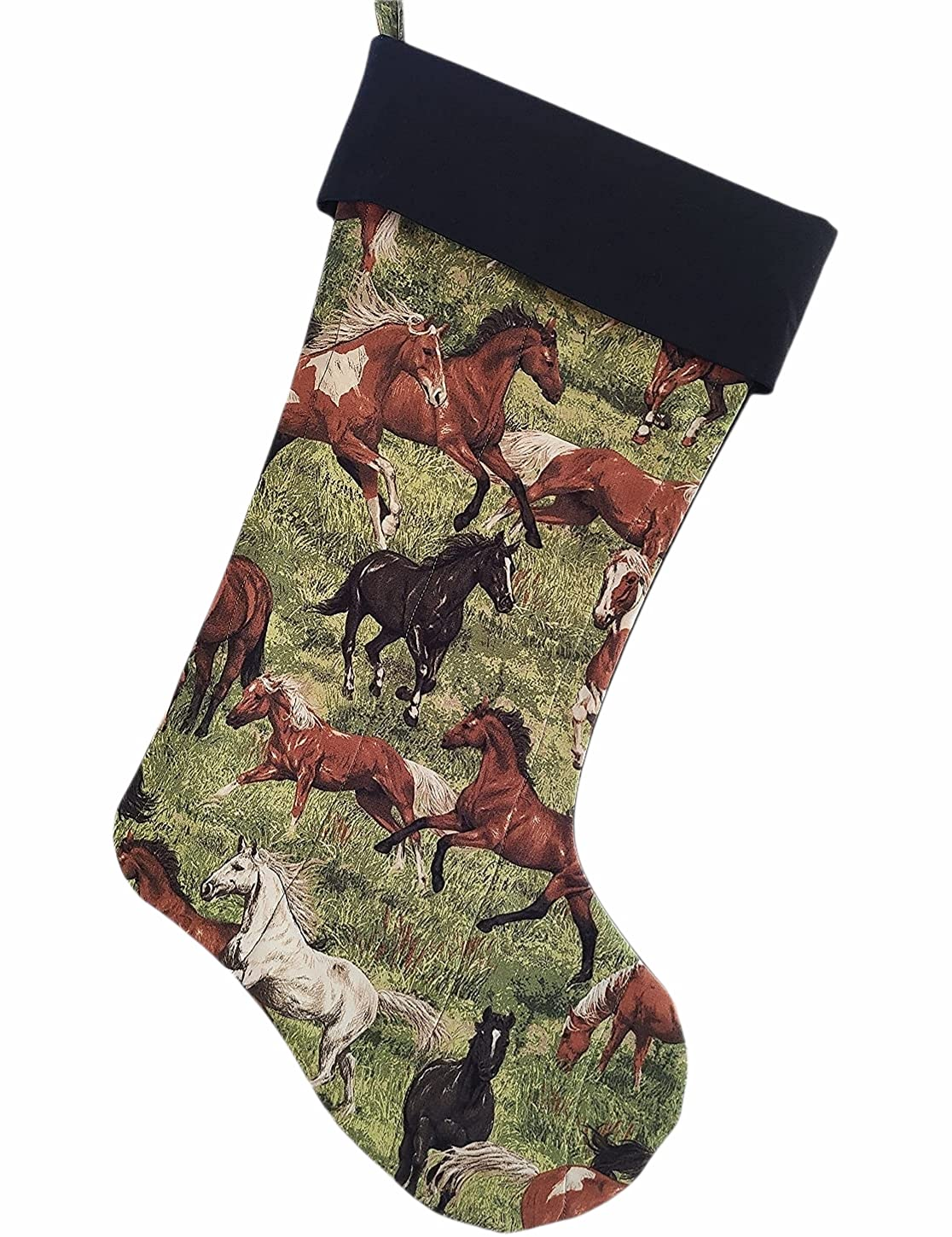 Horses Free shipping Year-end annual account Run Wild Stocking Quilted Christmas