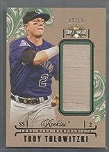 2014 Topps Triple Threads Baseball Troy Tulowitzki Jumbo Bat Piece Card # 3/18