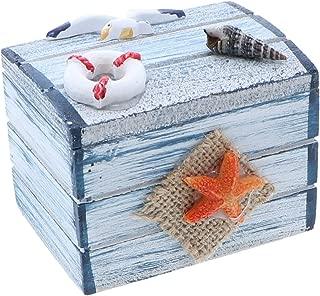 SandT Collection Star Fish 3 Inch Nautical Theme Treasure Chest Trinket Box
