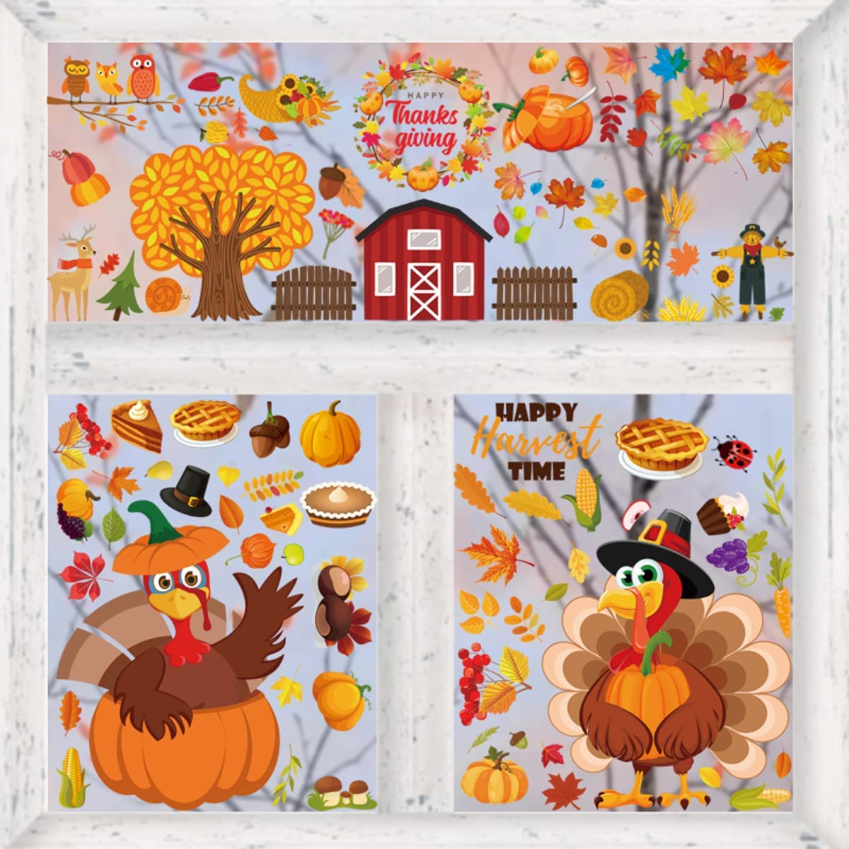 Orapink 100PCS excellence Thanksgiving Clings St Window Max 72% OFF