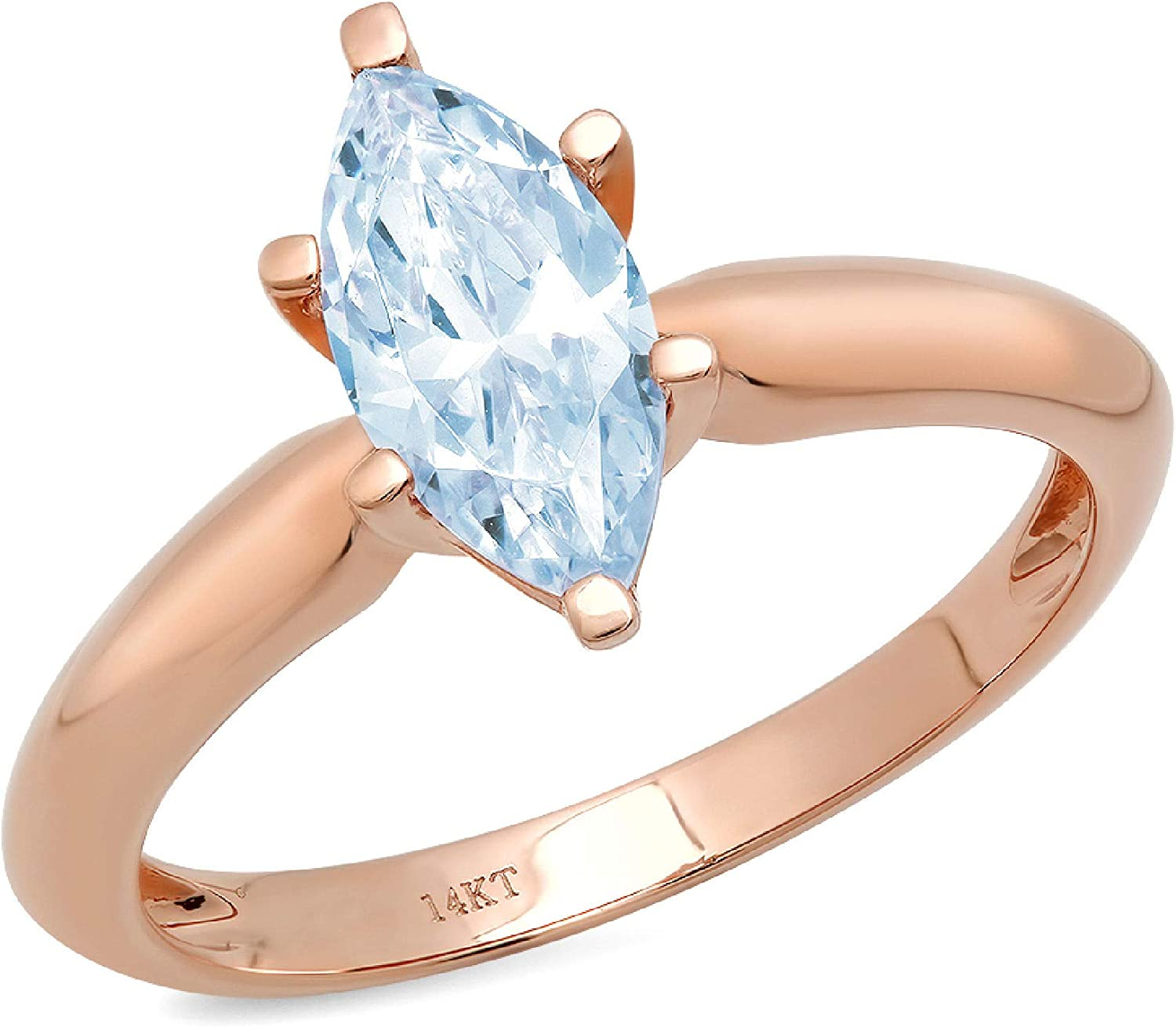 1.1 Mail order cheap ct Brilliant Marquise Cut Large-scale sale Solitaire Flawless Blue S Stunning