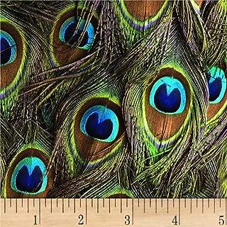Hoffman Fabrics Digital Proud As A Peacock Eye Feathers Peacock Fabric Fabric by the Yard