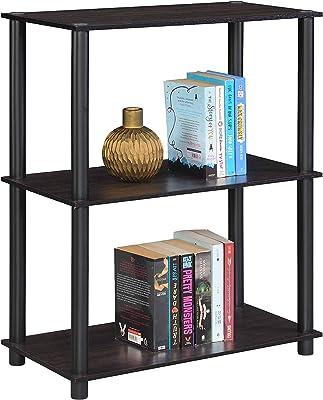 DeckUp BS6030A 2-Shelf Tube-N-Turn Engineered Wood Book Shelf (Dark Wenge, Engineered Wood)