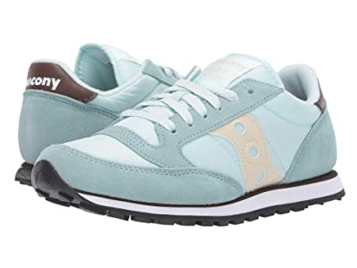 Saucony Originals Jazz Low Pro (Light Blue/Brown) Women