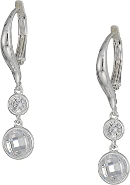 Cubic Zirconia Double Drop Earrings