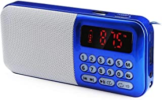 $94 » LYYAN Bluetooth Speaker Radio, Thick Uv Plastic Provides Good Protection Touch. Long Battery Life/Red (Color : Blue)