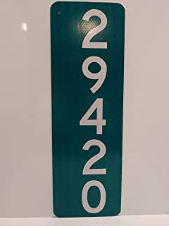 Green and White Mailbox Sign - Vertical Sign