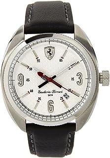 Ferrari Mens Quartz Watch, Analog Display and Leather Strap 0830240