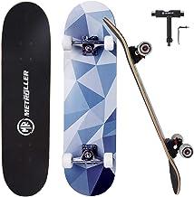 """METROLLER Skateboard, 31""""x 8"""" Pro Complete Standard Skate Boards for Girls Boys Beginner, 7 Layer Canadian Maple Double Ki..."""