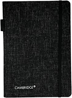 Cambridge Bungee Closure Notebook with Pen Loop, 8.5 x 6 Inches, 96 Ruled Sheets, Charcoal (590016-21)