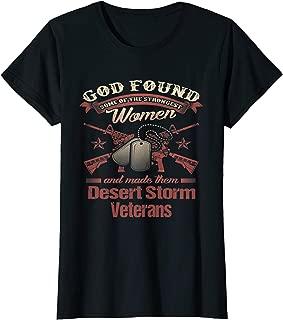 Womens Women Veteran Operation Desert Storm Persian Gulf War TShirt