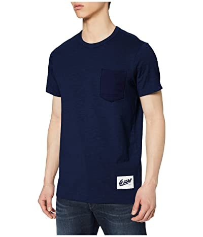 G-Star Contrast Pocket Round Neck T-Shirt (Imperial Blue) Men