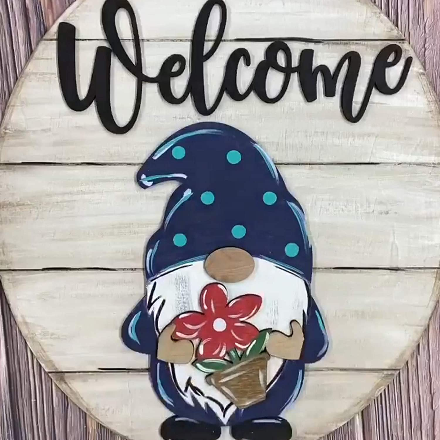 Gnome Los Angeles Mall Door Hanger Seasonal Miami Mall Welcome Hol Interchangeable Sign with