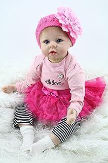 """Minidiva Reborn Baby Doll, 100% Handmade Full Soft Silicone 22"""" /55cm Lifelike Newborn Doll for Children-RB212"""