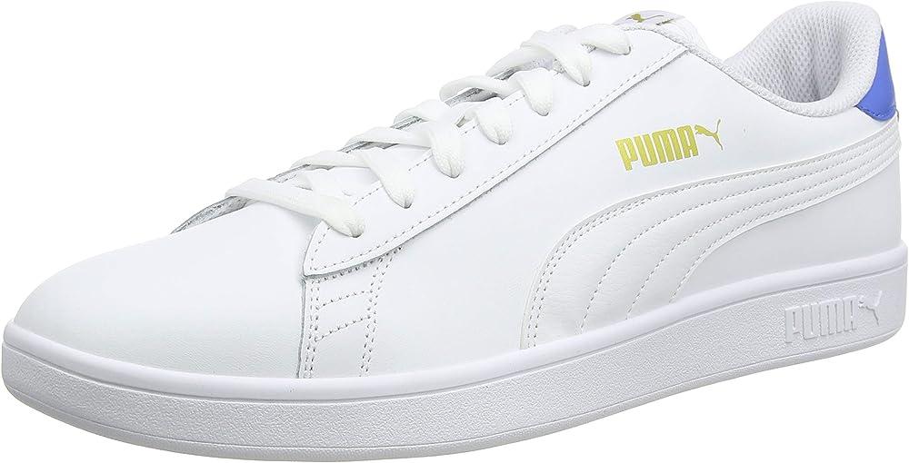 Puma smash v2 l` scarpe da ginnastica basse sneakers unisex in vera pelle 365215B
