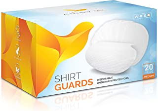 Underarm Shirt Guards (Sweat Pads) by Canary Tail – Extra Tear-Resistant – 40 Pieces (20 Pairs), Size M, White