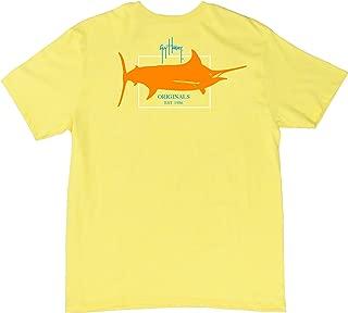 Guy Harvey Boy's Logo T-shirt (Medium) Neon Sky Blue Heather