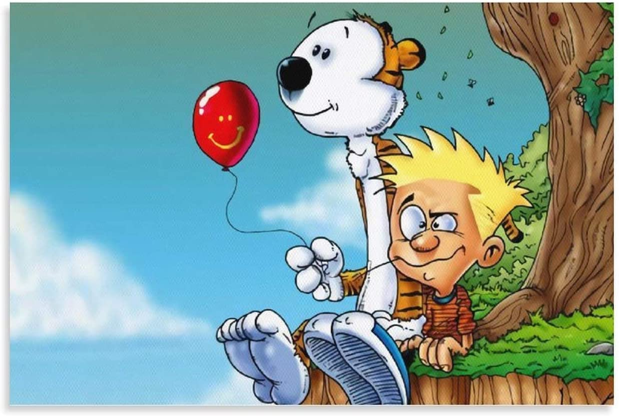 Canvas Poster Calvin And Hobbes Painti Prints Anime Indefinitely Art Reservation Unframed