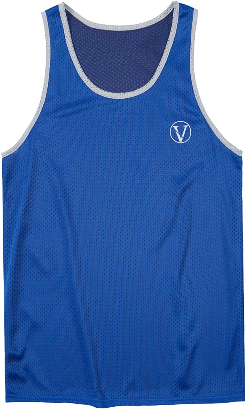 Vogyal Mens Reversible Tank Tops Mesh Sleeveless Shirts for Athletic Gym Workout Bodybuilding Sports: Clothing