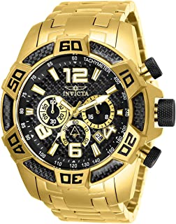 Invicta Men's Pro Diver Quartz Watch with Stainless Steel Strap, Gold, 26 (Model: 25853)