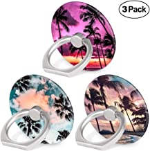 Bonoma Cell Phone Ring Holder Stand, 3 Pack Sunset Beach Palm Tree 360 Rotation Universal Smartphone Ring Grip Stand Compatible with Smartphones and Tablets