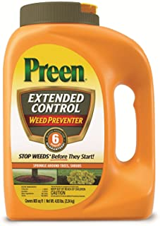Preen 2464092 Extended Control Weed Preventer - 4.93 lb. - Covers 805 sq. ft.