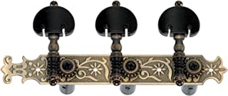 Golden Gate F-2108 Classical Guitar Tuners - 2 Planks (3+3) - Antique Brass